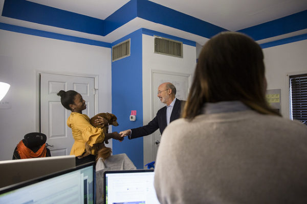 Photo provided by Governor Wolf's Press Office: https://www.flickr.com/photos/governortomwolf/sets/72157687855619921/with/26315056849/